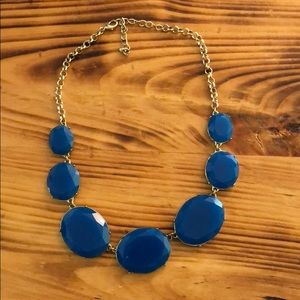 Francesca's blue and gold statement necklace